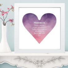 Dictionary Definiiton Heart Print in Box Frame - Unique Gift for Mother's Day or Father's Day